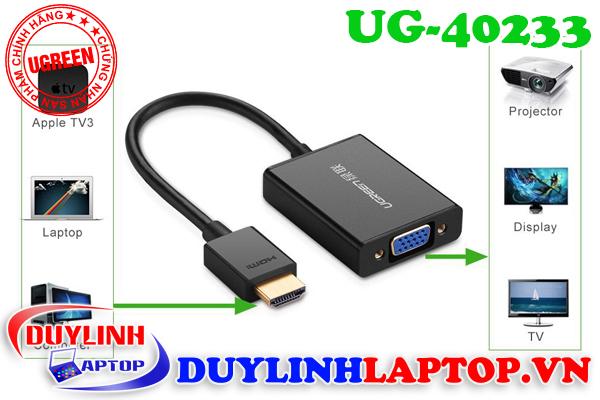 Cáp chuyển đổi HDMI to VGA Ugreen chất lượng tốt - 2