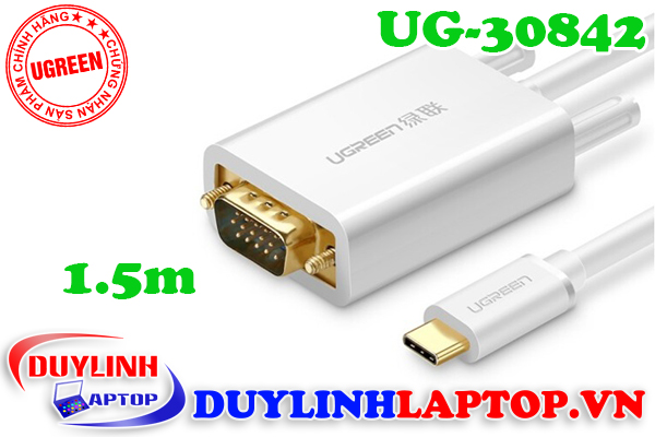 Cáp USB Type C to VGA dài 1.5m Ugreen 30842