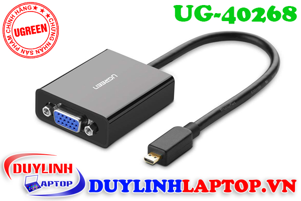 Adapter Micro HDMI to VGA + Audio 3.5mm Ugreen 40268