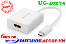 Adapter USB Type C to HDMI màu trắng Ugreen