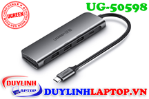 Adapter USB Type C to USB 3.0, USB C, SD, TF Ugreen 50598