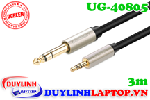 Cáp Audio 3.5mm to 6.5mm dài 3M Ugreen 40805