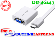 Cáp dẹt HDMI to VGA + Audio 3.5mm Ugreen 40247