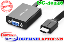 Cáp dẹt HDMI to VGA + Audio 3.5mm Ugreen 40248