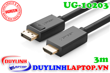 Cáp Displayport to HDMI dài 3M Ugreen 10203