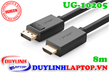 Cáp Displayport to HDMI dài 8M Ugreen 10205