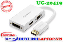 Cáp Displayport to HDMI, VGA, DVI 24+1 Ugreen 20419