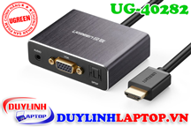 Cáp HDMI to VGA + Audio 3.5mm + Optical Audio Ugreen 40282