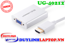 Cáp HDMI to VGA + Audio 3.5mm vỏ nhôm Ugreen 40212