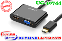 Cáp HDMI to VGA + HDMI + Audio 3.5mm Ugreen 40744