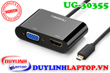 Micro HDMI to VGA + HDMI + Audio 3.5mm Ugreen 30355