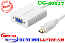 Mini HDMI to VGA + Audio 3.5mm vỏ nhôm Ugreen 40217