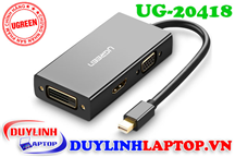 Cáp Thunderbolt - Mini Displayport to HDMI + VGA + DVI 24+1 Ugreen 20418