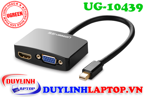 Cáp Thunderbolt - Mini Displayport to HDMI + VGA Ugreen 10439