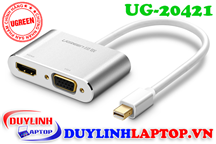 Cáp Thunderbolt - Mini Displayport to HDMI + VGA Ugreen 20421