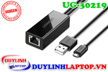 Cáp USB 2.0 + Micro USB to LAN Ugreen 30219