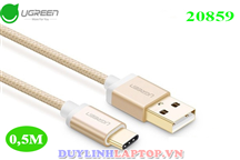 Cáp USB-C, Cáp USB Type-C to USB 2.0 dài 0.5M UGREEN 20859 Gold Rose