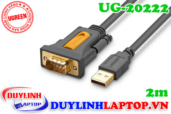 Cáp USB to Com (RS232) dài 2m Ugreen 20222