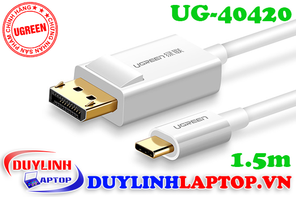 Cáp USB Type C to Displayport dài 1.5m Ugreen 40420