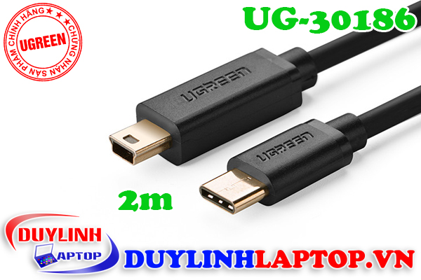 Cáp USB Type C to Mini USB 2.0 dài 2M Ugreen 30186