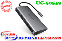 Cáp USB Type C to VGA, Lan, USB, SD, TF, USB C Ugreen 50539