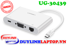 Cáp USB Type C to VGA, Lan, USB Type C, USB Ugreen 30439