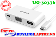 Cáp USB Type C to VGA, USB Type C, USB 3.0 Ugreen 30376