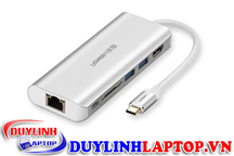 Hub USB Type C To HDMI, USB 3.0, Lan, SD, USB Type C Ugreen 40873 Cao Cấp