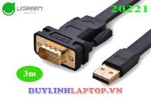 USB 2.0 to DB9 RS232 dẹt 3m - UGREEN CR107-20221